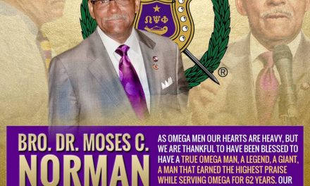 Brother Moses C. Norman Enters Omega Chapter
