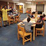 Bro. Paul Simpson gives a fun-science presentation to OMLI scholars