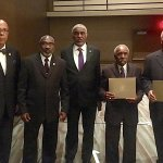 Group of Eta Omega brothers who received Fraternity service awards at the 81st Grand Conclave in New Orleans