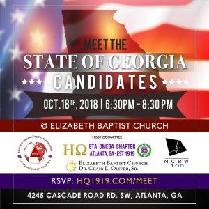 Flyer - Meet the State of Georgia Candidates Eta Omega, EPCP Delta Sigma Theta