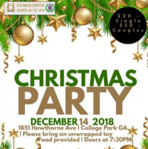 Flyer - 2018 Eta Omega Chapter Christmas Party