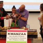 Lighting the Kwanzaa Candle