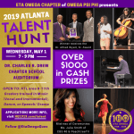 2019 Eta Omega Talent Hunt flyer