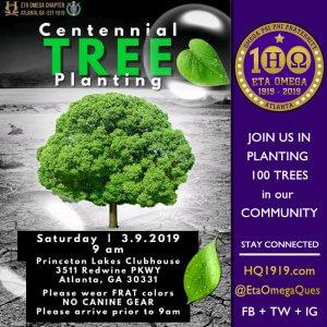 Eta Omega Centennial Tree Planting