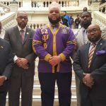 Eta Omega brothers at the 2016 Omega Day at the Georgia State Capitol