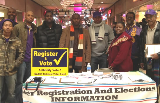 Eta Omega Registers Voters