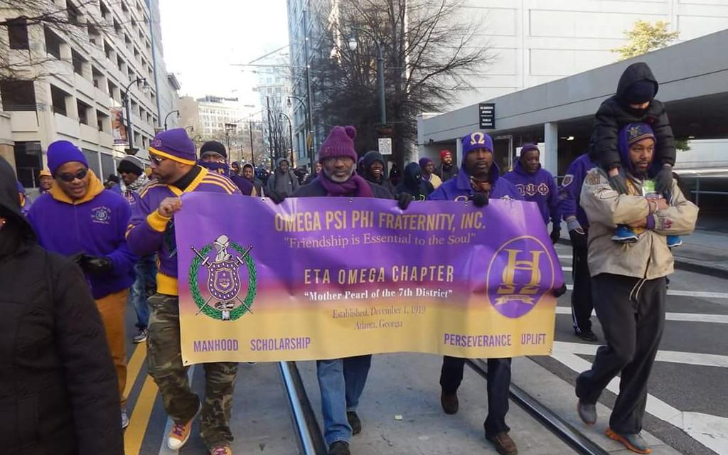Omega Psi Phi at the 2016 Atlanta MLK Day March