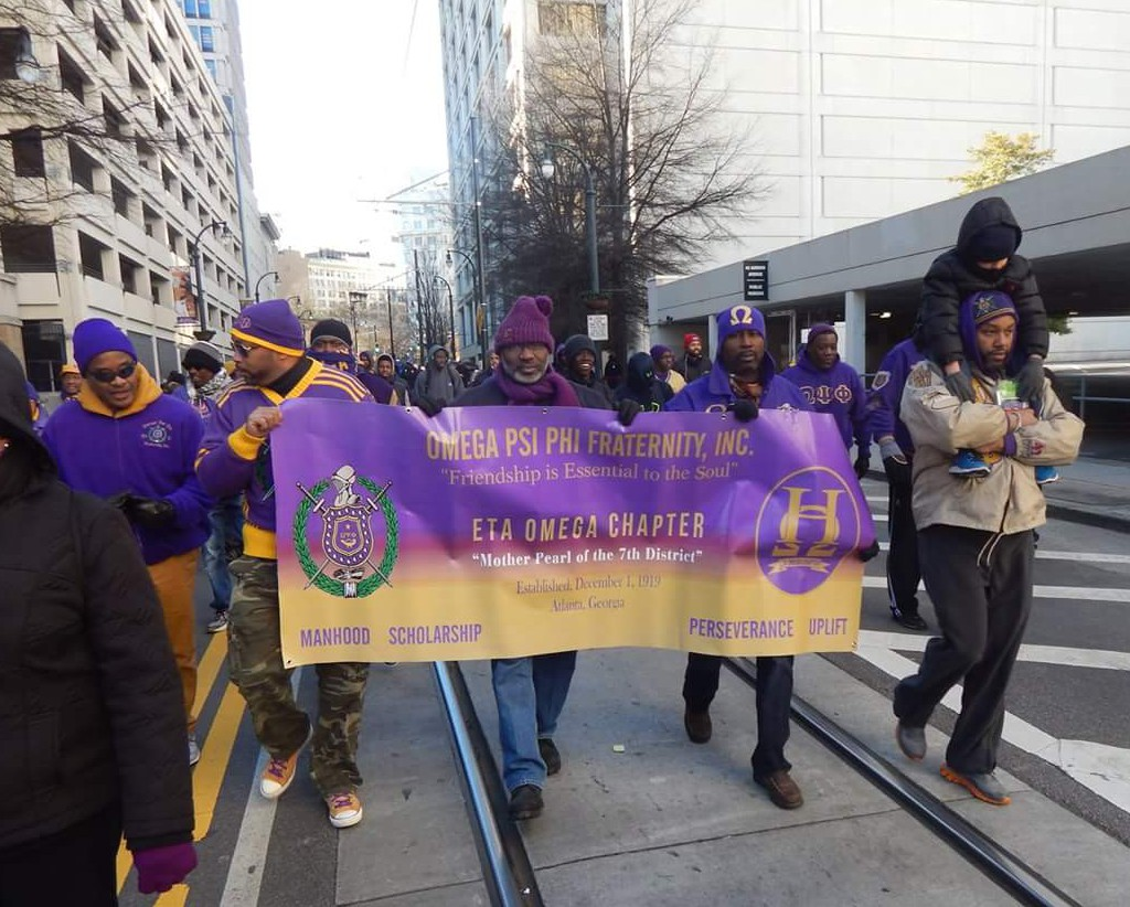 Eta Omega at the 2016 MLK Day March