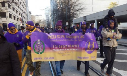 Omega Psi Phi at the 2016 Atlanta MLK Day March