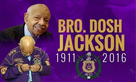 Bro. Dosh Jackson, Sr. transitions to Omega Chapter