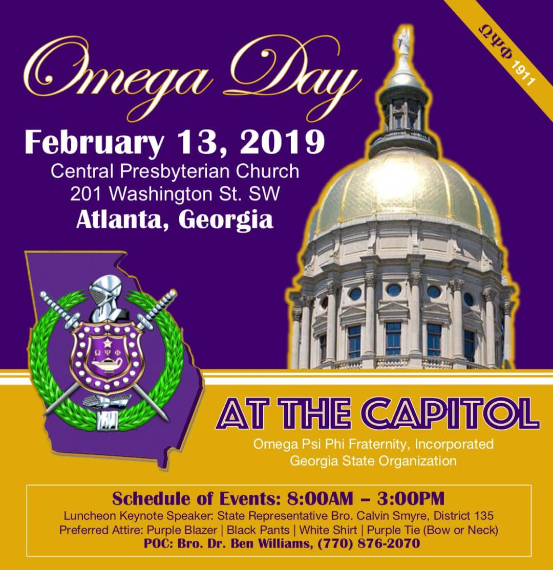 2019 Omega Psi Phi Day At The Georgia Capitol Eta Omega