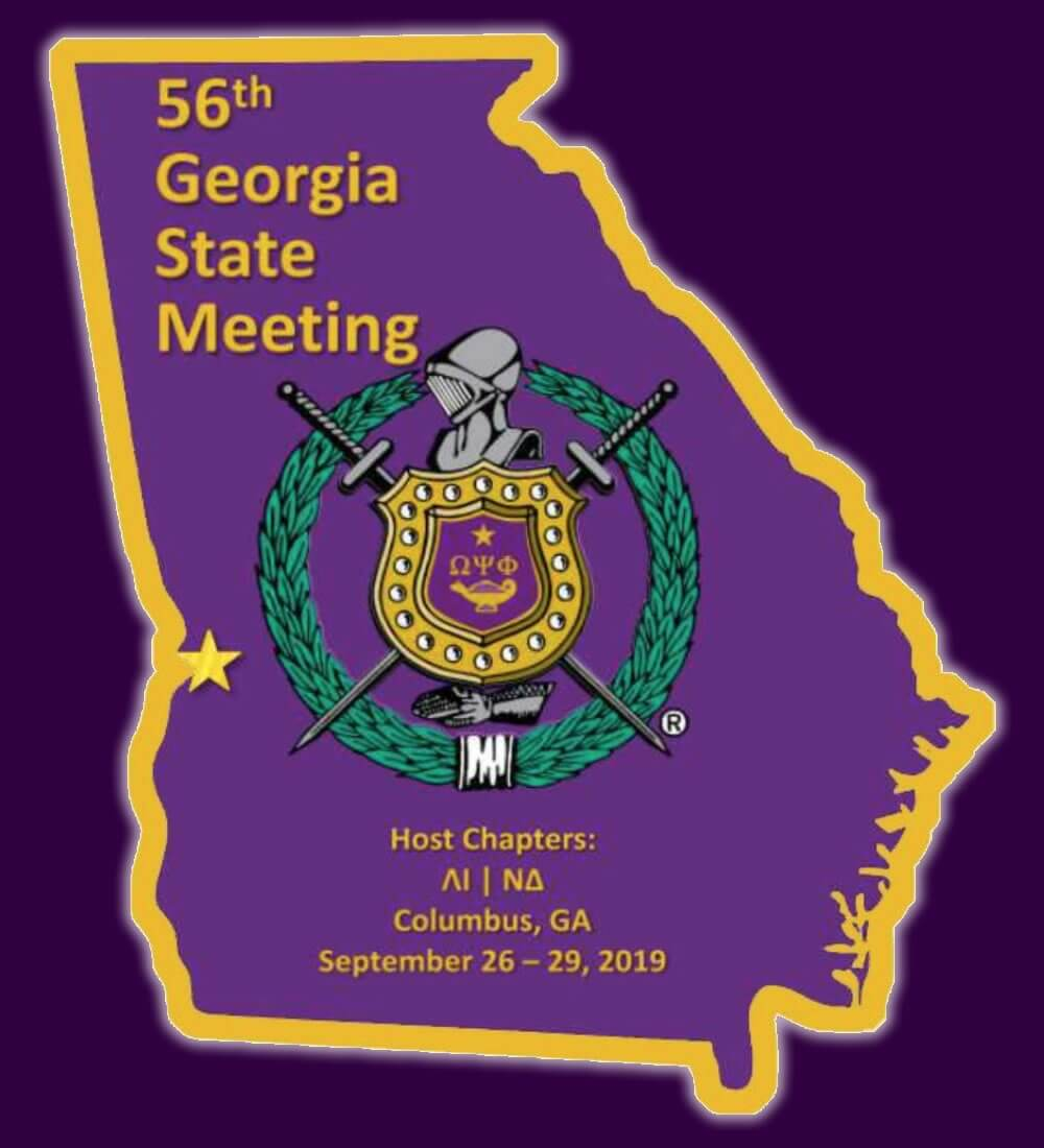 2019 Omega Psi Phi Georgia State Meeting logo