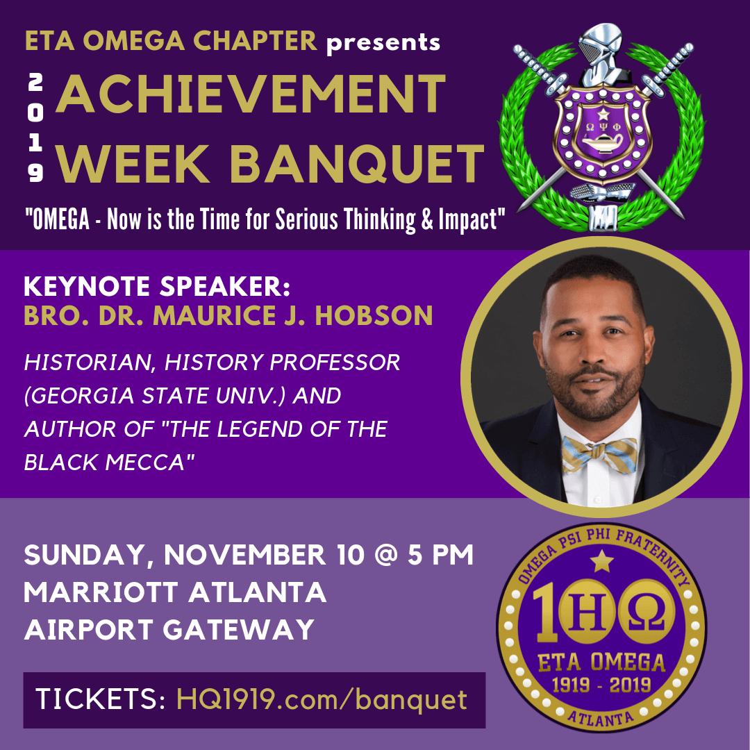 2019 Eta Omega Chapter - Omega Psi Phi - Achievement Week Banquet