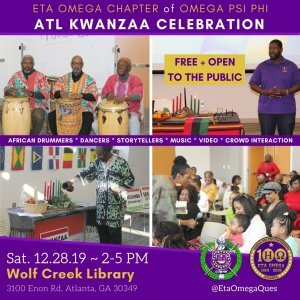 Eta Omega Chapter of Omega Psi Phi 2019 Atlanta Kwanzaa Celebration