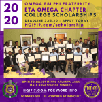 Flyer -2020 Eta Omega Chapter Scholarship Application
