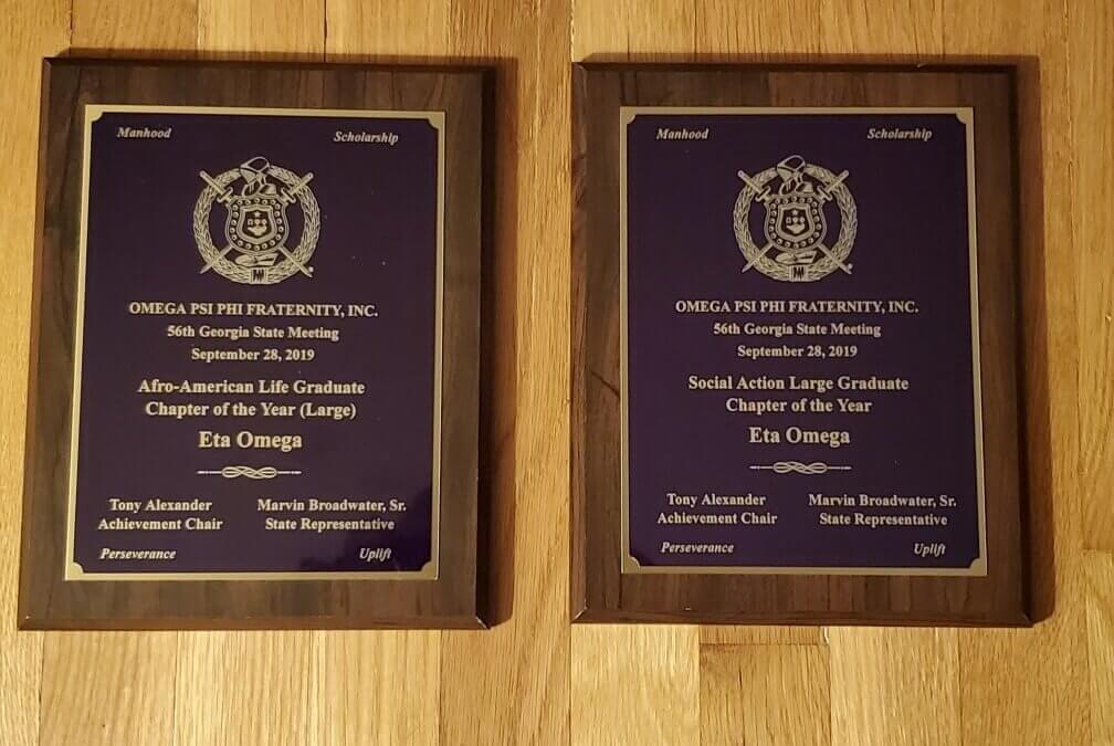 Eta Omega Recognized at 2019 Georgia Omega Meeting