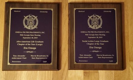 Eta Omega Recognized at 2019 Georgia Omega Meeting