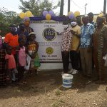 Ceremony for the Akwamufie, Ghana water borehole donated by the Eta Omega Chapter and Eta Omega Foundation, Inc.