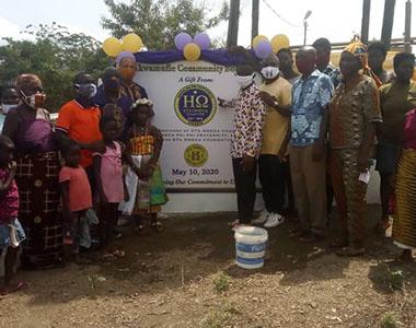 Eta Omega Donates Water Borehole in Ghana