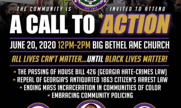"Atlanta Omegas Host ""A Call to Action"" Community Event"