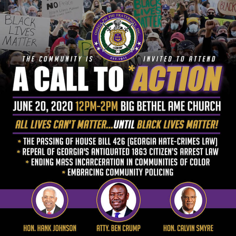 Omega Psi Phi Atlanta Call to Action March