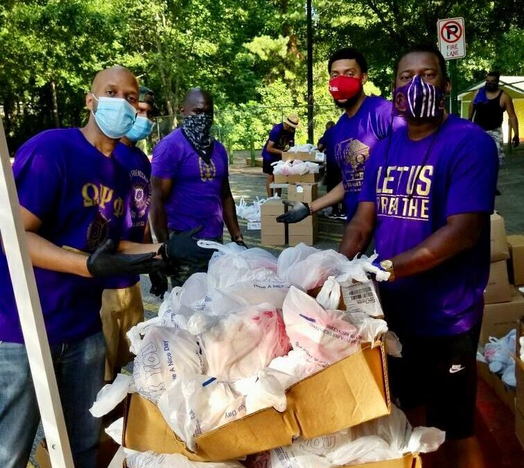 PHOTOS: Eta Omega Volunteers at South Fulton Food Giveaway