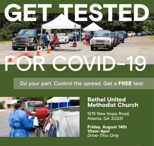 Eta Omega Covid-testing Bethel UMC Atlanta