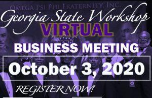 2020 Omega Psi Phi Georgia State Workshop flyer