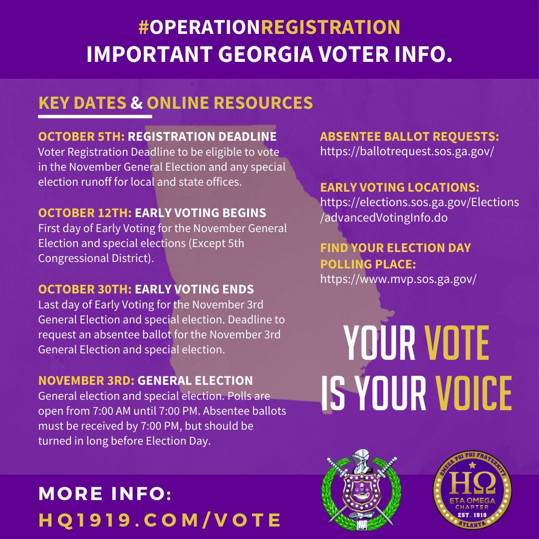 Eta Omega Operation Registration Omega Psi Phi Voter Education