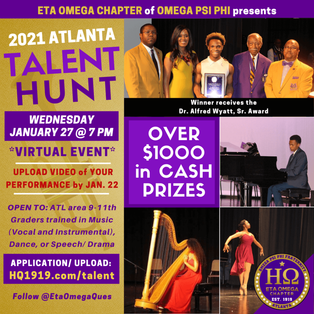 2021 Talent Hunt Eta Omega Chapter Omega Psi Phi