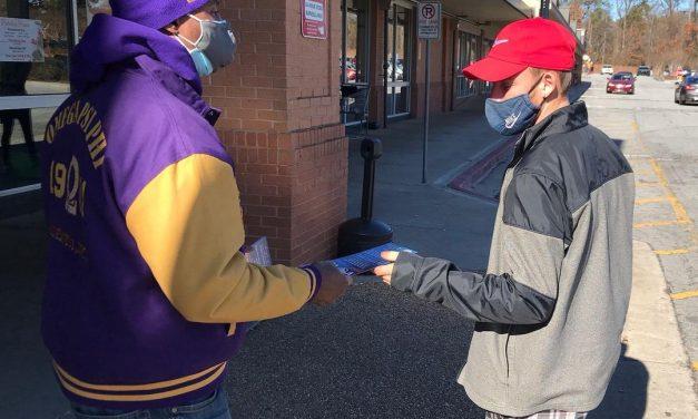 "RECAP: Eta Omega Holds ""Vroom for VREM"" Voter Event on Old National Hwy"