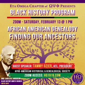 2021 Black History Month Program Eta Omega Chapter of Omega Psi Phi